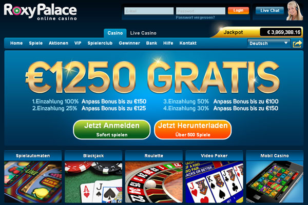 Roxy Palace Microgaming Casino